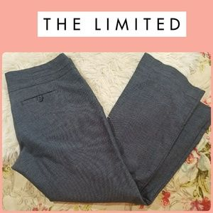 THE LIMITIED Cassidy Fit Grey  Flat TROUSER PANTS